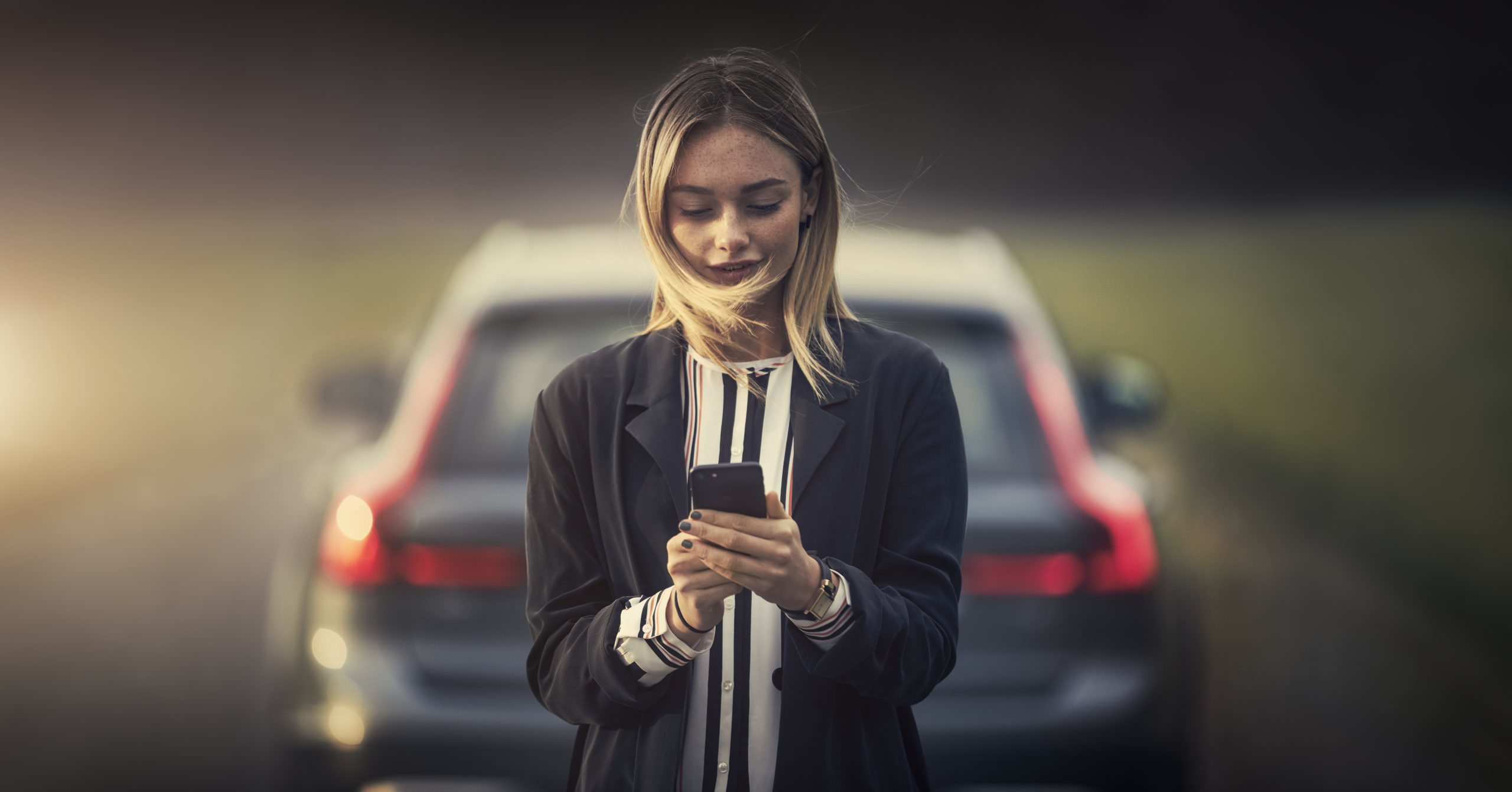 Volvo kobieta telefon